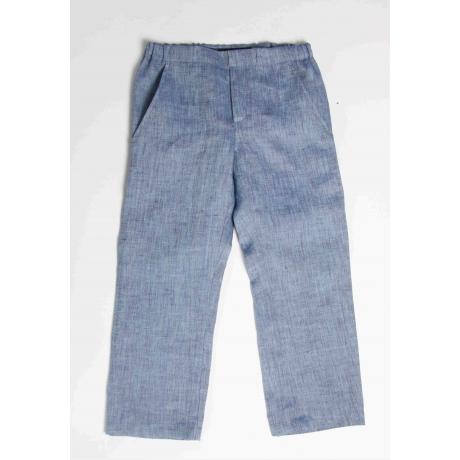Blue Trousers, 100% Linen