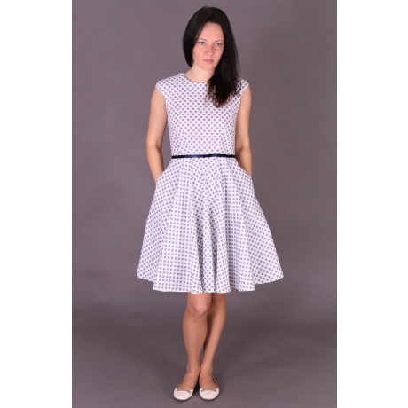 White Navy Dress