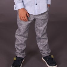 Gray Trousers, 100% Linen