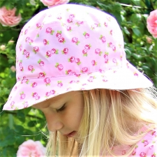 Pink Hat With Roses