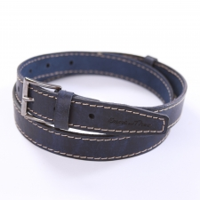 Leather Belt Blue