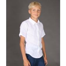 White Short Sleeve Shirt, 100% Linen