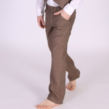 Virgin Wool Brown Trousers