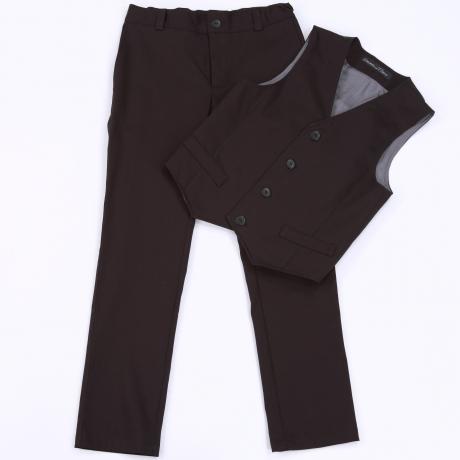 Must kerge mustriga püksid ja vest
