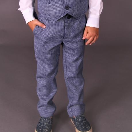Virgin Wool Blue Trousers
