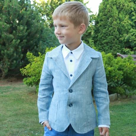 Light Blue Jacket, 100% Linen