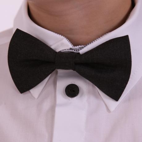 Dark Gray Bow Tie