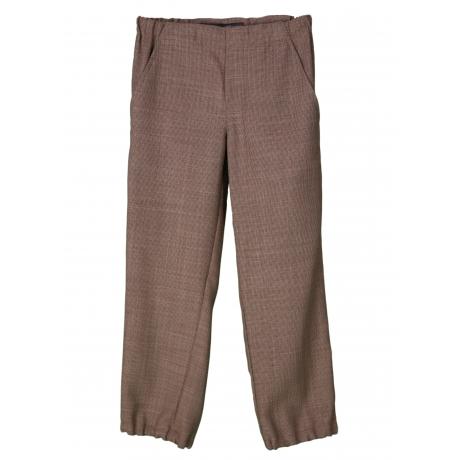 Peenvillased pruunid püksid