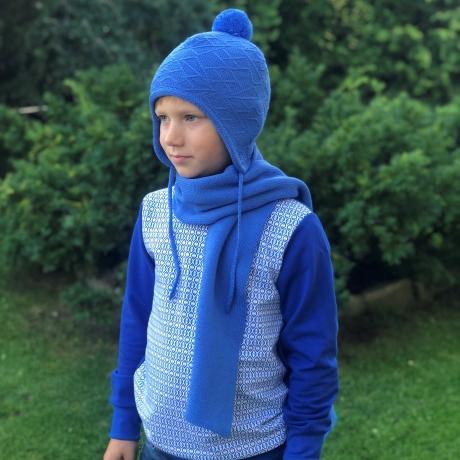 Blue Scarf, 100% Merino Wool