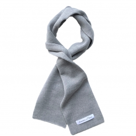 Gray Scarf, 100% Merino Wool