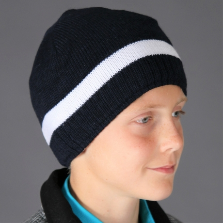 Navy Hat, 100% Merino Wool
