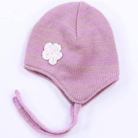 Roosa müts, 100% meriinovill
