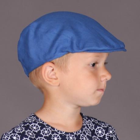 Blue Linen Ivy Cap