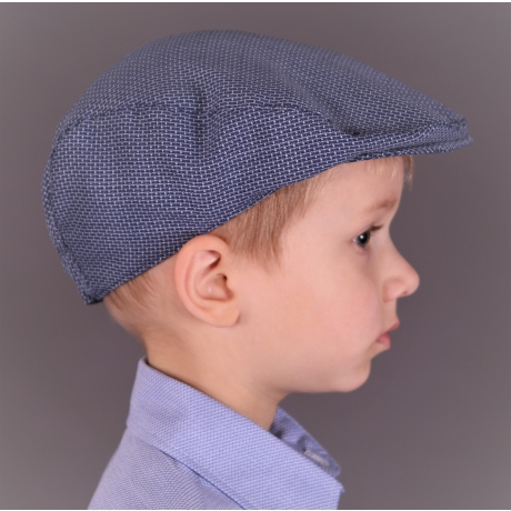 Light Blue Virgin Wool Ivy Cap