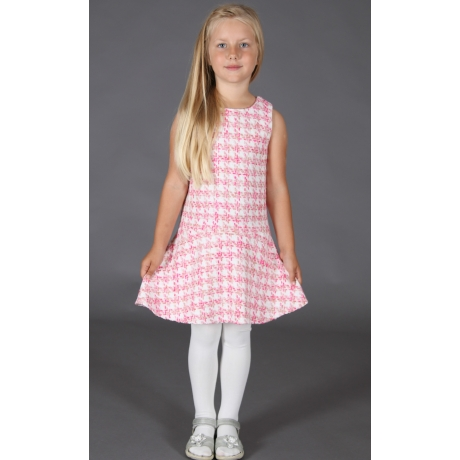 Roosa valge ruuduline kleit