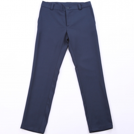 Navy Blue Trousers With Virgin Wool