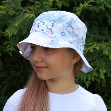 Light Blue Floral Hat