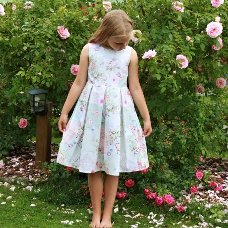 Romantic Floral Dress (Green)