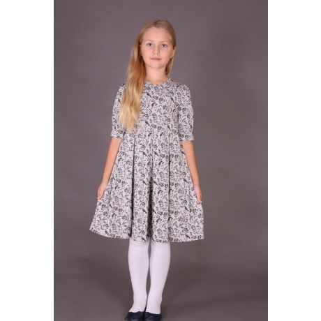 "Gray Dress ""Birds"""