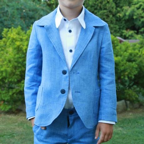 Blue Jacket, 100% Linen
