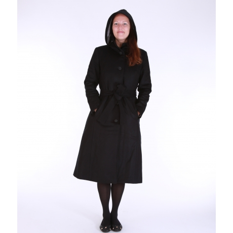 Black Wintercoat With Virgin Wool and Cashmere