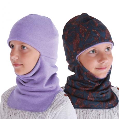 Tuukrimüts, ühelt poolt 100% MERIINOVILL violetne / teiselt poolt puuvill tumedad suled, sooja topeltvoodriga, kahtepidi kantav!  -3 °C ja külmem