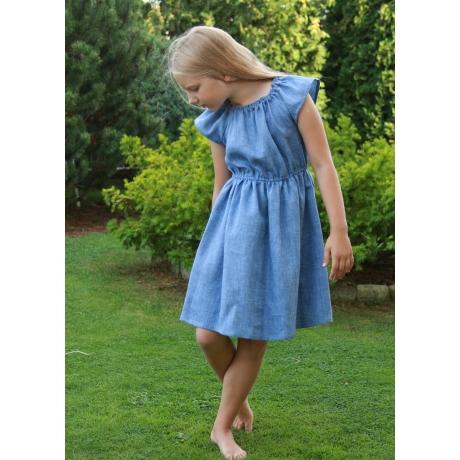 Blue Dress, 100% LINEN