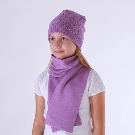 Purple Scarf, 100% Merino Wool