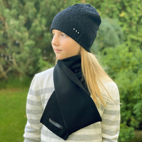 Black Scarf, 100% Merino Wool