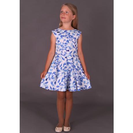 Luksuslik kleit siniste lehtedega