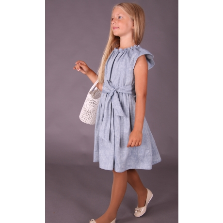 Light Blue Dress, 100% LINEN