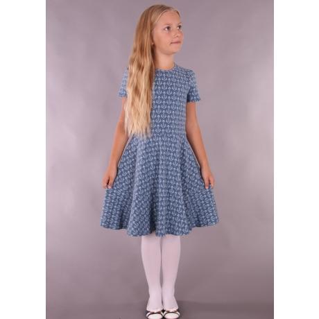 Sinakashall kleit ankrutega