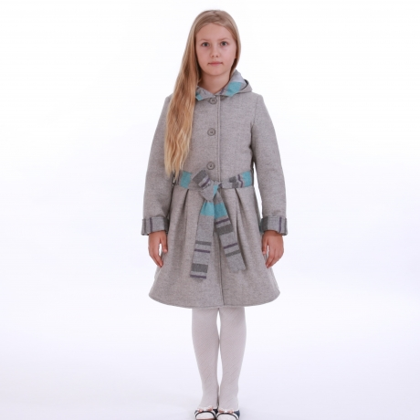Light Gray Coat With Stripes
