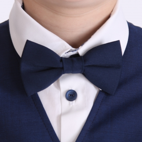 Navy Blue Bow Tie, 100% Virgin Wool