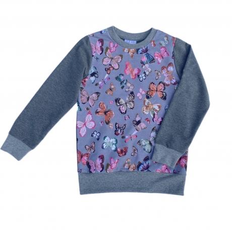 Sweatshirt With Butterflies