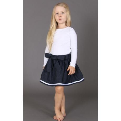 Navy Skirt, 100% Linen