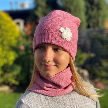 Pink Scarf, 100% Merino Wool