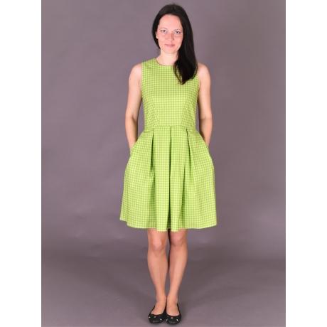 Green Pepita Dress