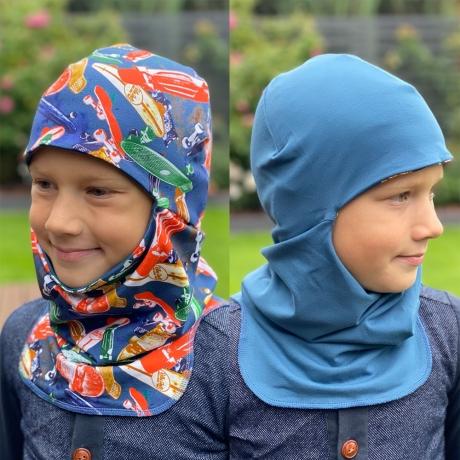 Tuukrimüts ruladega / sinine, kahtepidi kantav! +5 kuni +15 °C