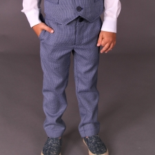 Virgin Wool Blue Trousers