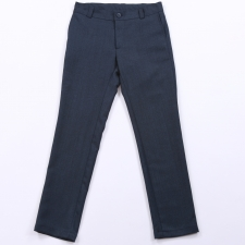 Virgin Wool Dark Blue Trousers