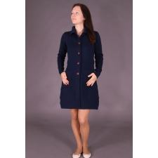 Navy Blue Cardigan, 100% Merino Wool