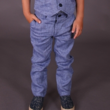 Blue Trousers, 100% Linen