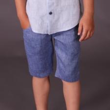 Blue Shorts, 100% Linen
