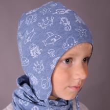 Sinine mereteemaline müts paeltega