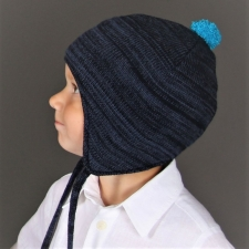 Blue Hat, 100% Merino Wool