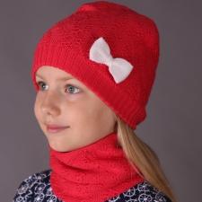 Virsikuroosa meriinovillane müts lillemustriga, meriinovillane vooder, valge lips