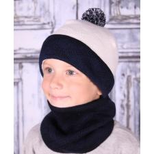 Tumesinise valge kirju müts, 100% MERIINOVILL