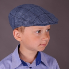 Blue Ivy Cap, Linen - Virgin Wool
