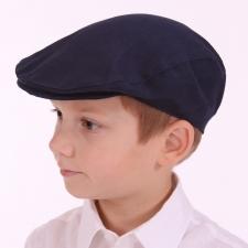 Navy Blue Linen Ivy Cap